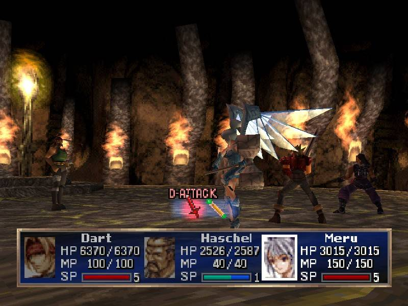 options combat legend of dragoon ps1 meru dart haschel